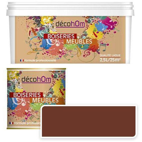 Peinture Murale monocouche couleur Marron 0,5Litre SATIN