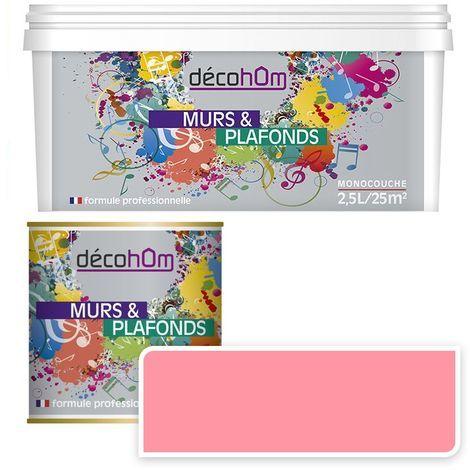 Peinture Murale monocouche couleur Rose 0,5Litre SATIN