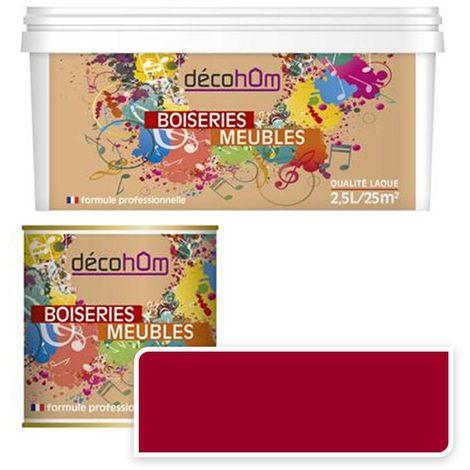 Peinture Murale monocouche couleur Rouge 0,5Litre MAT