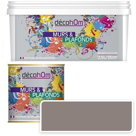Peinture Murale monocouche couleur Taupe 0,5Litre SATIN