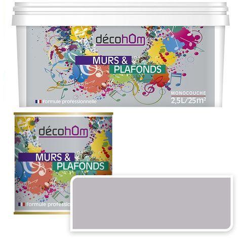 Peinture Murale monocouche couleurGris perlé 0,5Litre SATIN