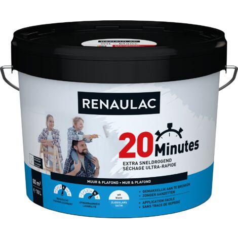 Peinture Murale Renaulac 20 Minutes Blanc Satiné - 10L