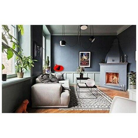 Peinture murale Satin Acrylique / Intérieur application facile très opacifiant séchage rapide / couleurs au choix sans odeur - 1 Bleu Nuit - 1 Litre. - 1 Bleu Nuit
