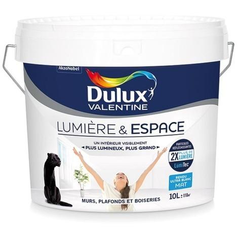 Peinture murs/plafond lumiere et espace mat blanc 10 l