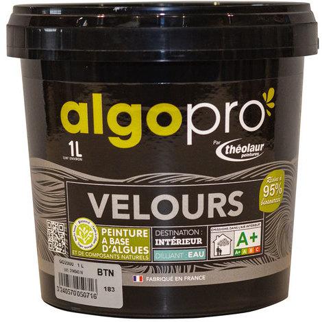 Peinture naturelle bio-sourcée à base d'huile végétale et d'algues idéale pour les murs : Algo Pro velours - 1981 régency - 1L