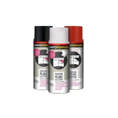 Peinture pelable pour déco & stickers 400ml aérosol SINTOPEINTURE - | blanc