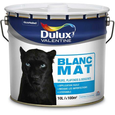 Peinture Murs Et Plafonds En Phase Aqueuse Bicouche Mat Blanc 10 L