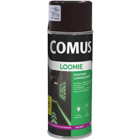 Peinture photoluminescente jaune fluorescent pour la sécurité et la décoration : Comus Loomie aérosol 400ml