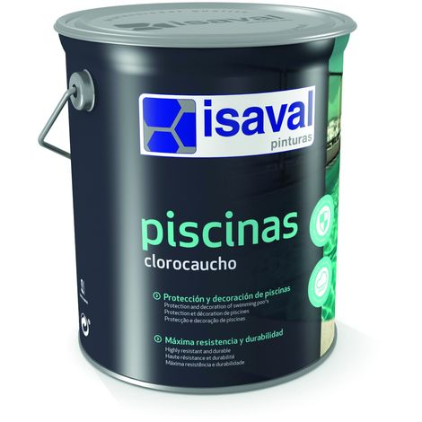 Peinture Piscine Caoutchouc Chloré Lot de 3 - 5kg - Isaval