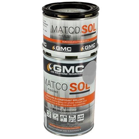 Peinture Matco Sol 8m² gris de Matco - Peinture piscine