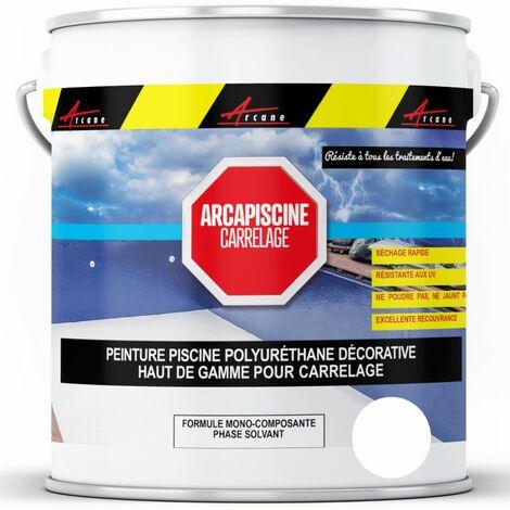 Peinture Piscine pour piscine en carrelage - plus performante qu'une peinture epoxy - ARCANE INDUSTRIES - Blanc Piscine - 20 kg (jusqu'à 65m² pour 2 couches)