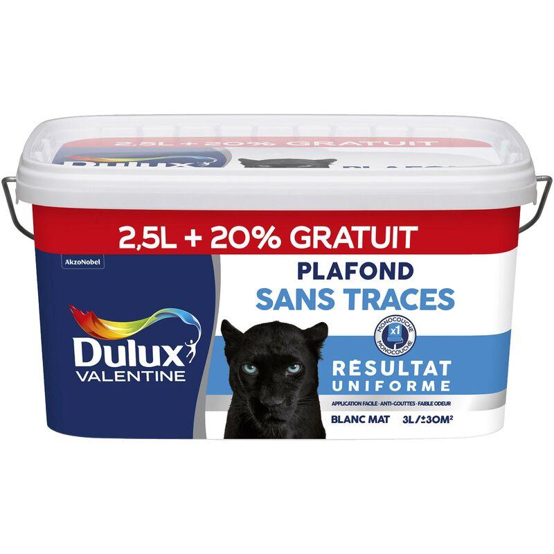 Peinture Plafond Sans Traces Mat Blanc 25 L 20 Gratuit Dulux