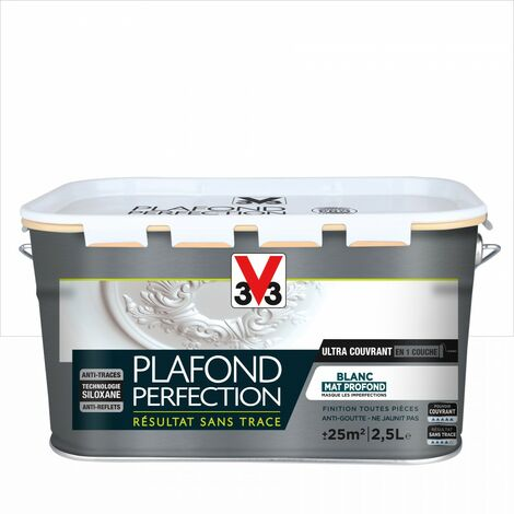 "main image of ""Peinture plafond V33 Plafond perfection blanc mat, 2.5 l"""