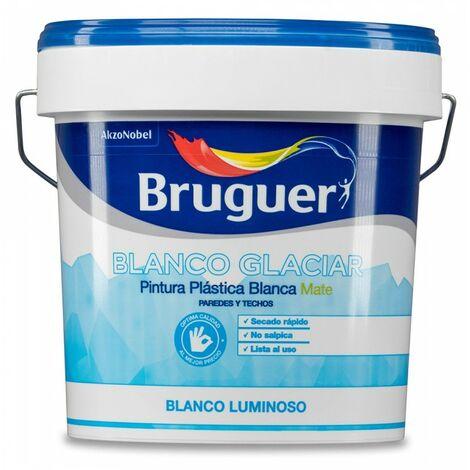 PEINTURE PLASTIQUE INTÉRIEUR BLANC GLACIER MAT 15L BRUGUER