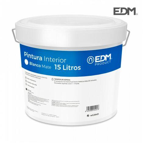 PEINTURE PLASTIQUE MAT INTERIEUR BLANC 15L .