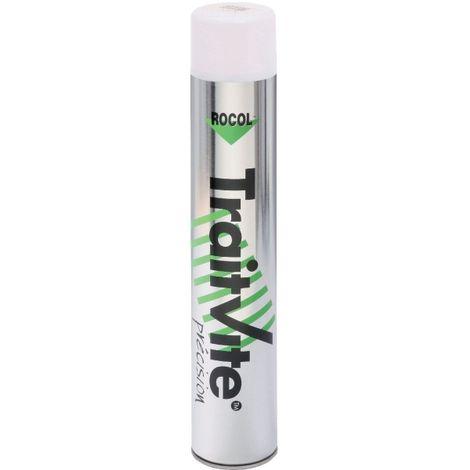 Peinture pour marquage permanent TraitVite coloris blanc aérosol 750 ml net - Blanc RAL 9016