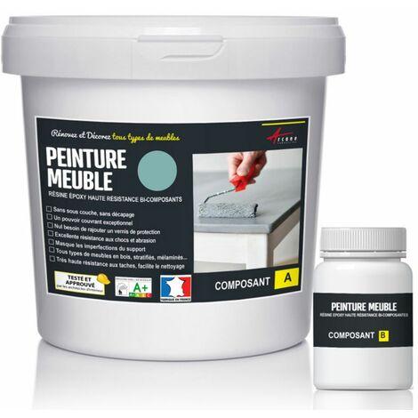 Peinture Meuble Cuisine stratifié, mélaminé - Epoxy - ARCANE INDUSTRIES - RAL 6034 Turquoise Pastel - Kit 1 Kg jusqu'a 12m² pour 2 couches