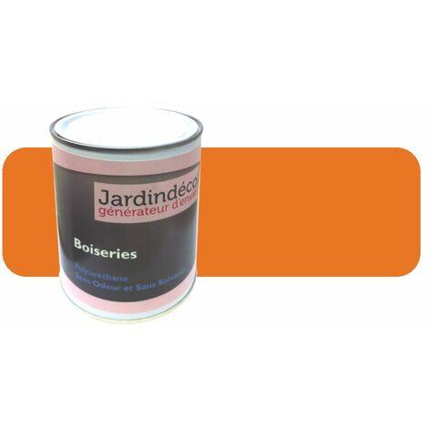 Peinture pour meuble en bois brut 1 litre Orange rouge