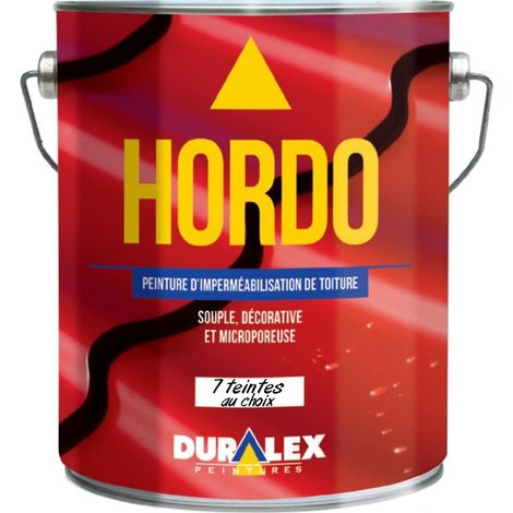 Peinture pour rénovation et imperméabilisation des toitures DURALEX Hordo très souple pour d'importantes déformations