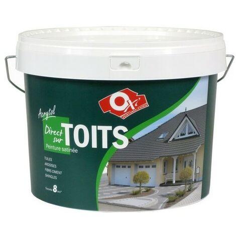 Peinture pour toits Acrytol ardoise foncée 10L