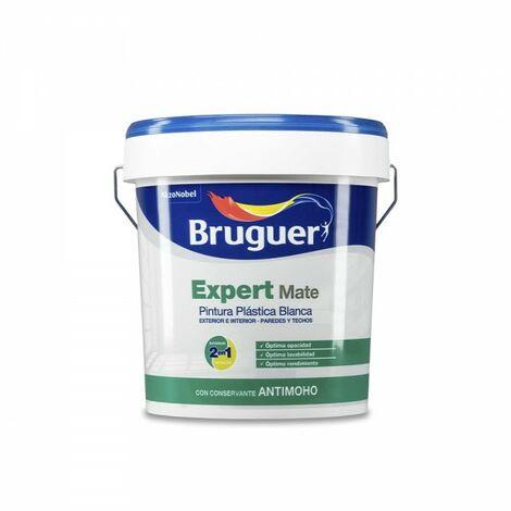 Peinture pp mat blanc expert 0.75l pour intérieur et extérieur bruguer