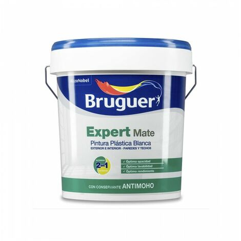 PEINTURE PP MAT BLANC EXPERT 15L POUR INTÉRIEUR ET EXTÉRIEUR BRUGUER