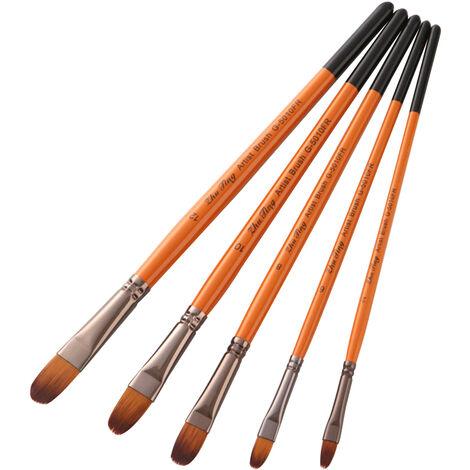 Peinture professionnelle Pinceaux Artiste Paintbrush Nylon cheveux poignee en bois de l'acrylique Huile Aquarelle Gouache Nail Art Visage Peinture Artisanat, Filbert Conseil