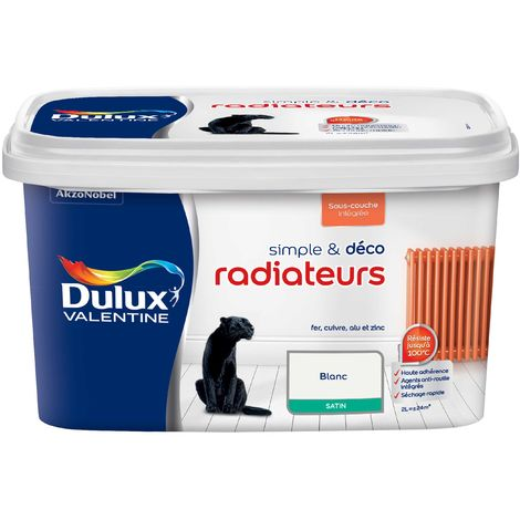 Peinture Radiateur couleur Satin - Simple & Déco Dulux Valentine