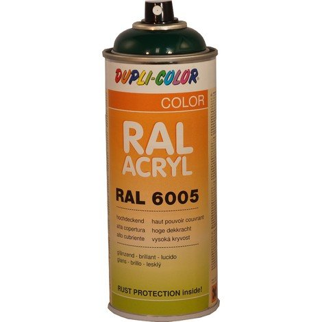 Peinture RAL ACRYL 6005 vert mousse brillant 400 ML DUPLICOLOR - MO349638