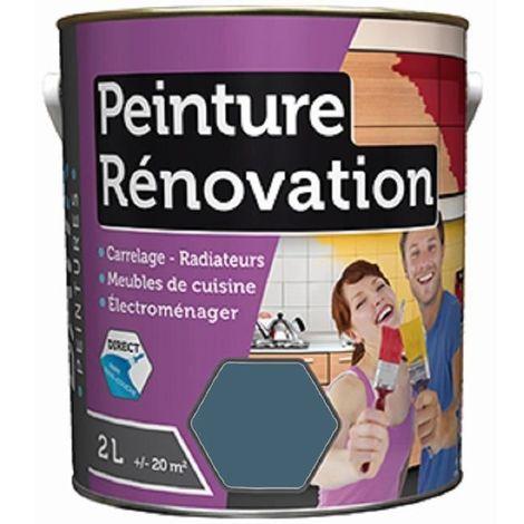 Peinture rénovation satin 2L: carrelage, meubles, bois, PVC, radiateur, électroménager, ... - plusieurs modèles disponibles
