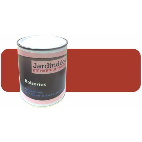 Peinture rouge de sécu pour meuble en bois brut 1 litre