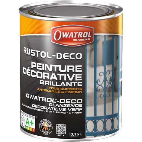 Peinture Rustol Déco Owatrol - Gris fenêtre - 750 ml