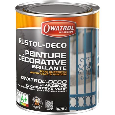 Peinture Rustol Déco Owatrol - Noir - 750 ml