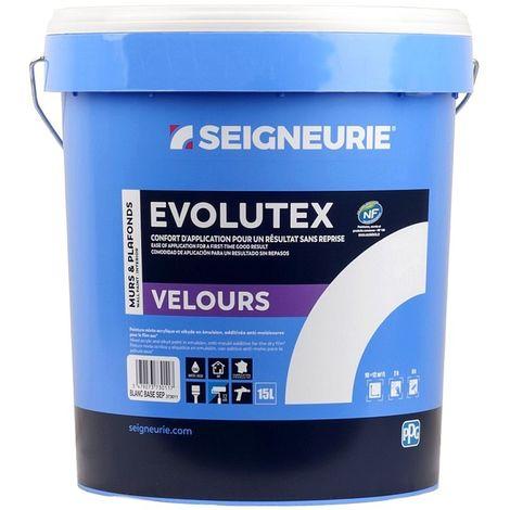Peinture SEIGNEURIE Evolutex Velours BLANC 15L   Blanche - 15 Litres