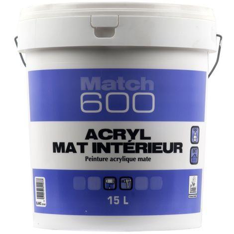 Peinture Seigneurie Match 600 Acryl Mat 15l 30096bl15l