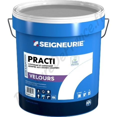 Peinture SEIGNEURIE Practi Velours BLANC 15L | 15 Litres