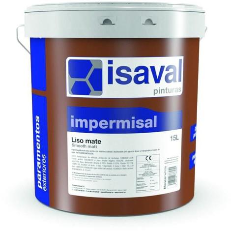 Peinture semi-épais lisse Mat 15 Litres blanc Impermisal - Isaval