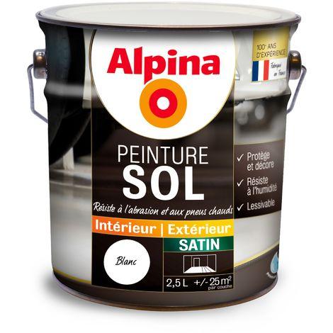 "main image of ""Peinture sol Alpina satin 2,5L   Couleur: Blanc"""
