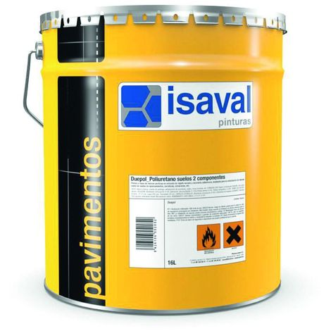 Peinture sol Duepol Polyuréthane bi-composants 16 litres RAL 7042 Gris Signalisation - Isaval