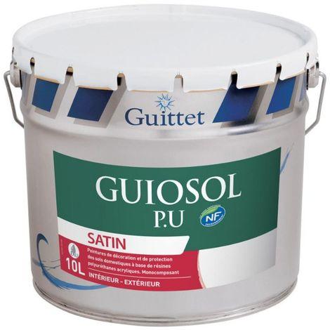 Peinture sol Guittet Guiosol P.U 10L Blanc | Couleur: Blanc