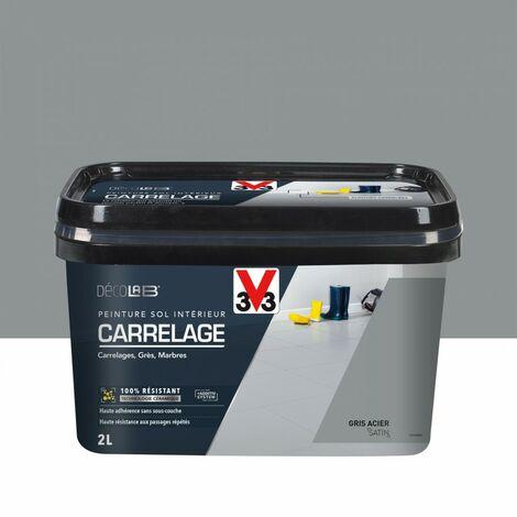 Peinture sol intérieur Carrelage décolab® V33, gris acier, 2 l