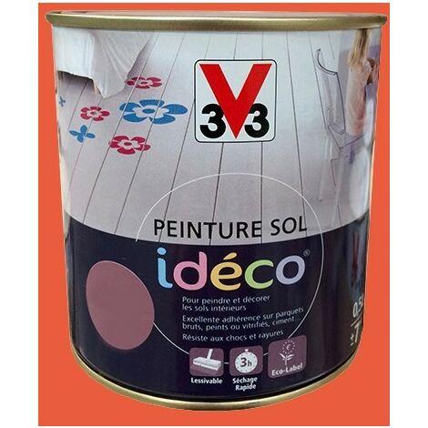 Peinture sol V33 Idéco Capucine Satin 0.5L 0,5 L - Capucine