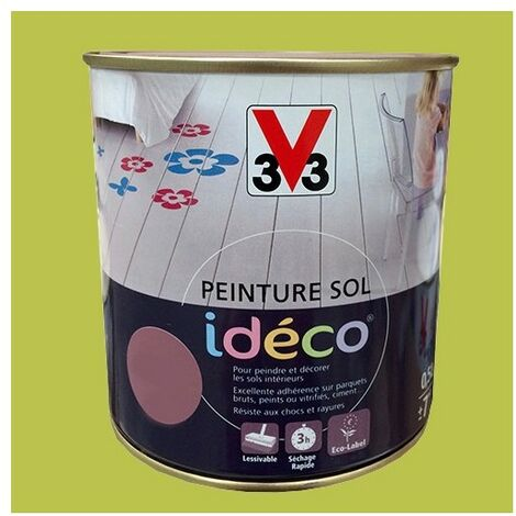 Peinture sol V33 Idéco Grenouille Satin 0.5L 0,5 L - Grenouille