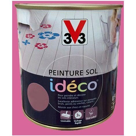 Peinture sol V33 Idéco Lola Satin 0.5L 0,5 L - Lola