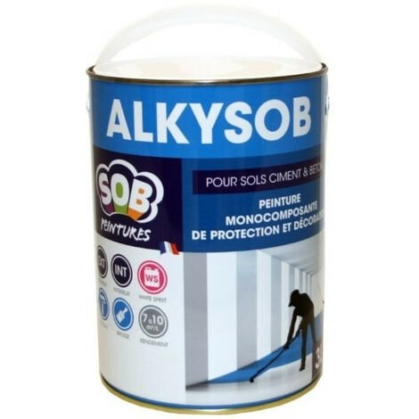 Peinture Sols et Murs ciment et béton 0,75L Alkysob SOB - plusieurs modèles disponibles