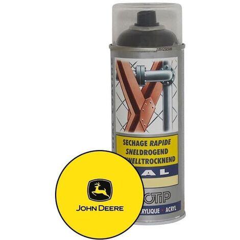 Peinture spéciale motoculture couleur JAUNE JOHN DEERE - Aérosol 400ml