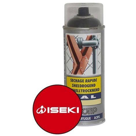 Peinture spéciale motoculture couleur ROUGE ISEKI - Aérosol 400ml