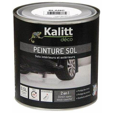 Peinture spéciale sol satin blanc 0.5L - KALITT