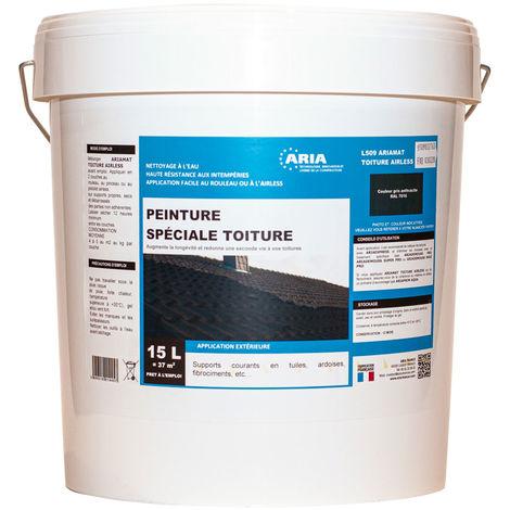 Peinture spéciale toiture Aria 15 litres (L509 Ariamat) : augmente la longévité et redonne une seconde vie à vos toitures