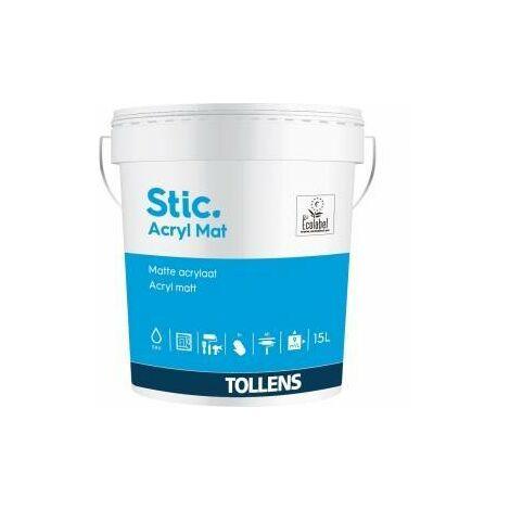 Peinture Stic acrylique 15L mat - Tollens